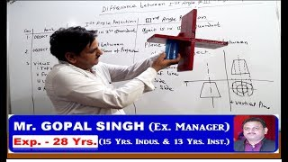 DIFFERENCE BETWEEN FIRST ANGLE & THIRD ANGLE PROJECTION IN HINDI BY GOPAL SIR IN INDUSTRIAL DRAWING.