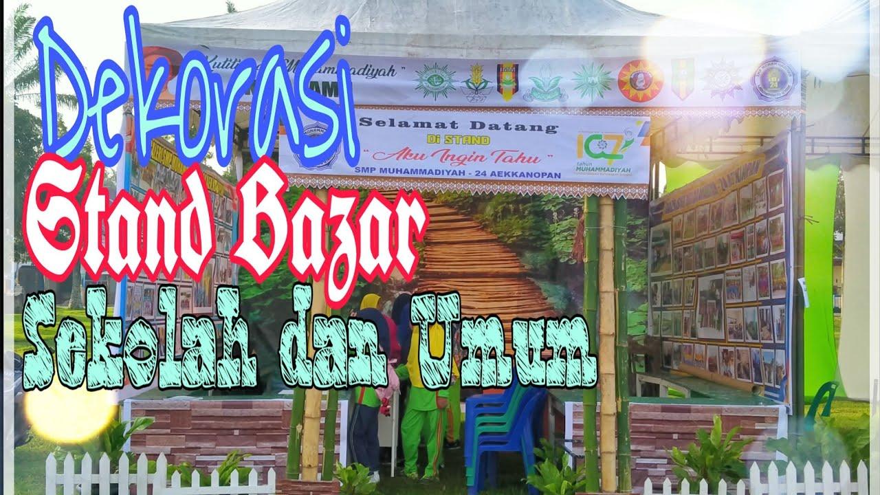 Download Dekorasi Desain Stand Bazar Sekolah dan Umum Sederhana