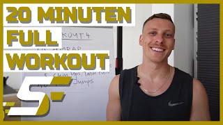 20 Min. Full Workout - Week 4 | Shutdown Fitness by Felix Lobrecht