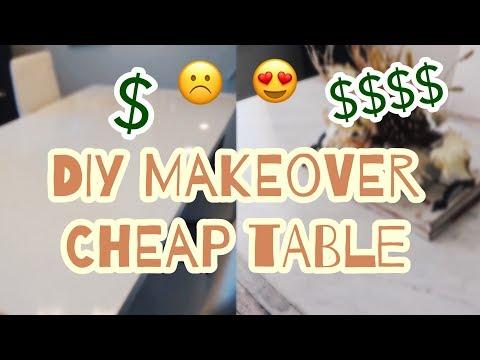DIY TABLE MAKEOVER 😍 | Meja MURAH Jadi Terlihat MAHAL! 🤑💸 |
