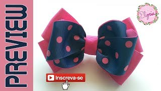 [PREVIEW] Laço Emely 3.8 cm Ribbon Bow DIY by Elysia Handmade Top T...