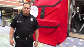If You See Something, Say Something Giant Red Backpack Fountain Valley Police Police Chief PSA