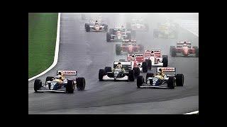 F1 1993 ドニントン 雨のセナの走り 【オンボード】