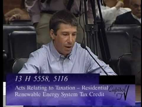 Renewable Energy Tax Credit Hearing