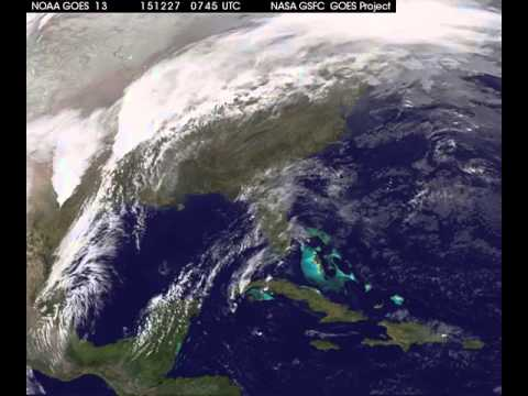 GOES Satellite View of Southwest Storm System - Dec. 2015
