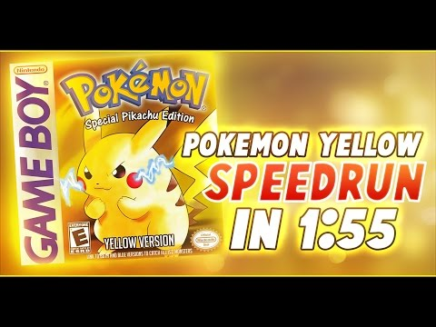 Pokemon Yellow Glitchless Speedrun in 1:55 (Former World Record)