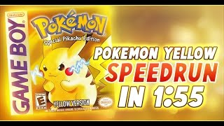 Pokemon Yellow Glitchless Speedrun in 1:55 (Current World Record)