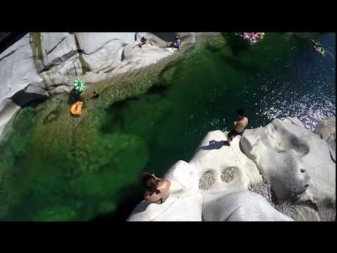 Swimming, Cliff Jumping and Semi Rafting South Yuba River -- in 4K