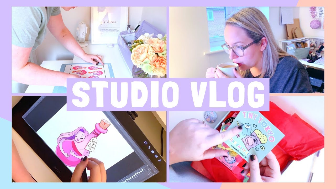 STUDIO VLOG | Updating my Stationery, New Sticker & an Unboxing! | 027