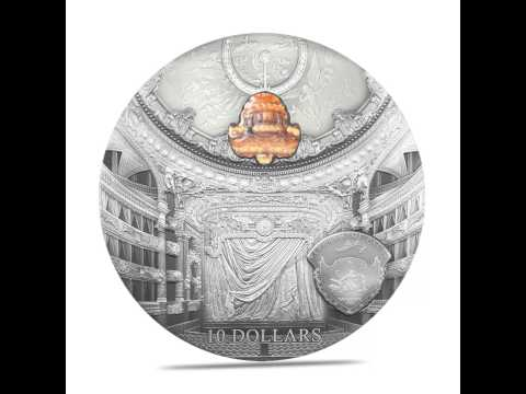 Palau 2013 Famous Opera Crystal Series - Paris Opéra Garnier 2oz Silver Coin