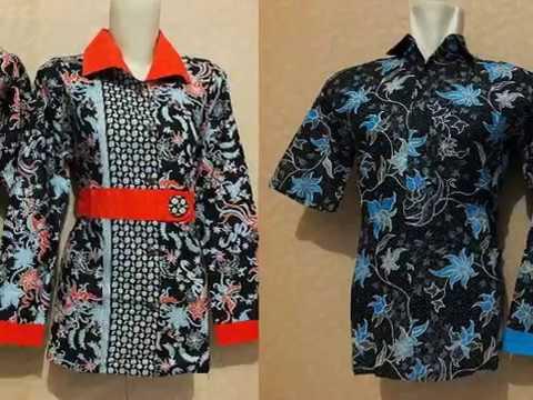Terima Pesanan Aneka Model Kemeja Batik Wanita Pria Blouse Batik