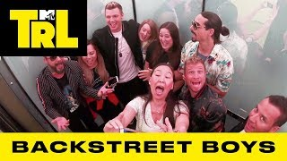 Backstreet Boys Surprise Fans w/ 'I Want It That Way' & 'As Long As You Love Me' Sing-A-Longs | TRL