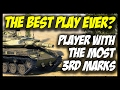 ► The BEST Play Ever? - Player with Most 3rd Marks! - World of Tanks T49 Gameplay