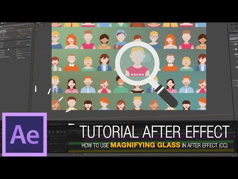After Effects Tutorial - How to Use Magnifying Glass in After Effect (CC)