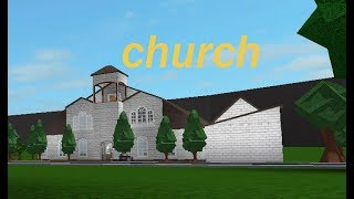 Roblox bloxburg Church SpeedBuild