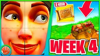 2 Treasure Chests Search!! * FREE * Banner location!! (Week 4 Challenges)-Fortnite: Battle Royale