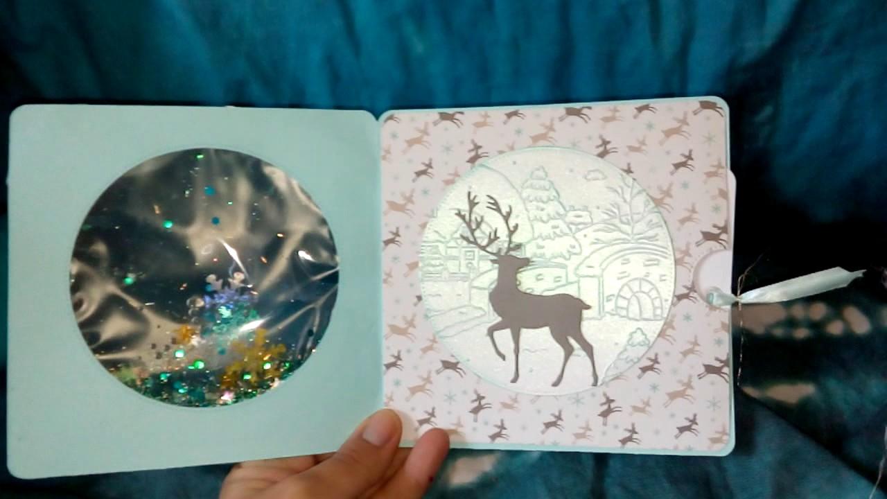 Ma Carte De Noel.Ma Jolie Carte Boule De Neige Avec Aqua Shaker