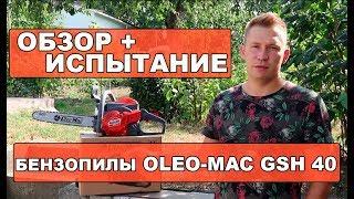 Обзор и испытание бензопилы Oleo-Mac GSH 40
