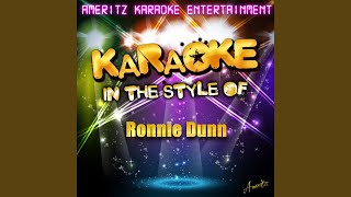 Bleed Red (In the Style of Ronnie Dunn) (Karaoke Version)