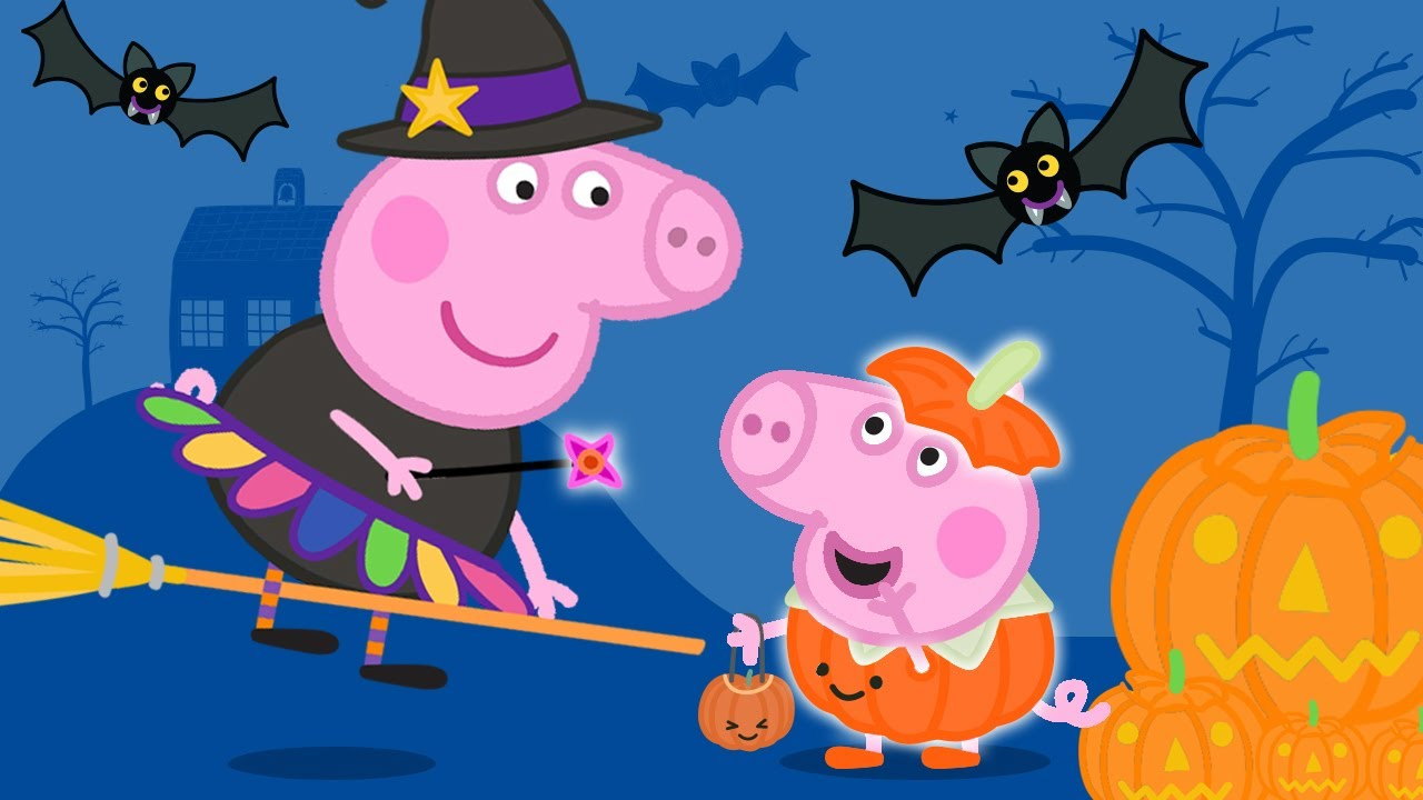 Peppa Pig Official Channel | Peppa Pig's Halloween Pumpkin Party! Learn to Count with Peppa Pig