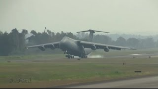 C-5 Galaxy landing at MHLC, Goloson Airport, La Ceiba Honduras.