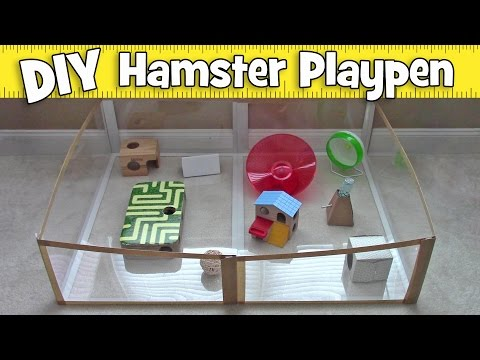 DIY Folding Carpet Saver Hamster Playpen by Hammy Time