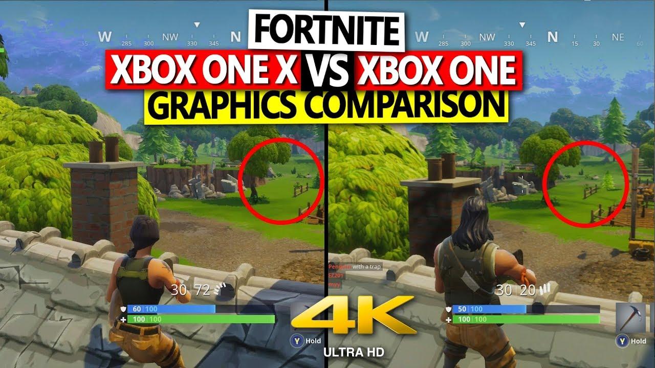Fortnite Xbox One X vs Xbox One Graphics Comparison 4K 60 ...
