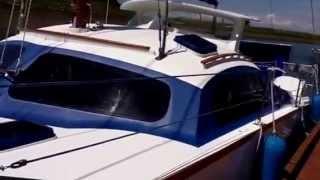 32' Iroquois catamaran sail/power boat pt 1