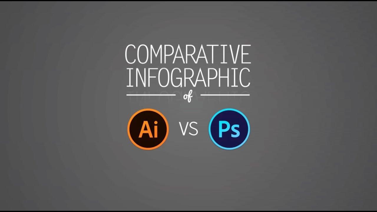 adobe illustrator vs adobe photoshop youtube