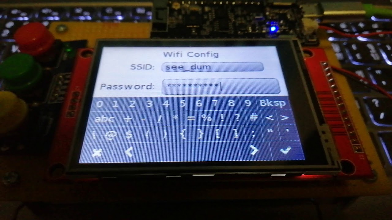 ESP32 LittlevGL WiFi Config V2