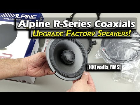 Alpine R S65 2 Coaxial Speaker Unboxing and Review