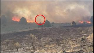 Ghost of firefighter saved the farm from the fire in Idaho, USA