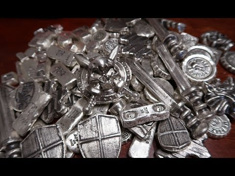 Unboxing Another Massive Haul of Awesome Poured Silver From MK Barz!