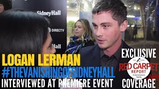 "Logan Lerman interviewed at the Premiere of DIRECTV's ""The Vanishing of Sidney Hall"" #NowSteaming"