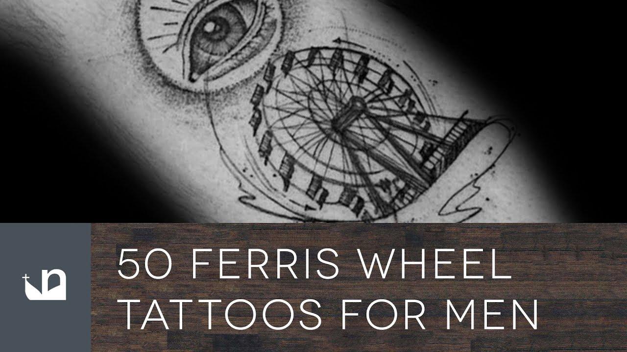 50 Ferris Wheel Tattoo Ideas For Men – Amusement Ride Designs