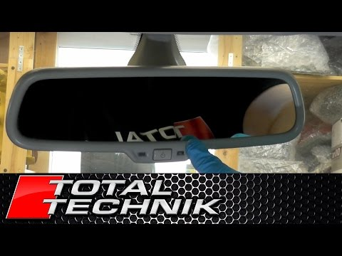 How to Remove Rear View Mirror - Audi A4 S4 RS4 - B6 B7 - 2001-2008 - TOTAL TECHNIK