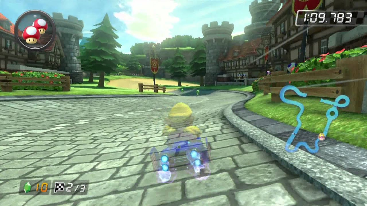 mario kart 8 time trial hyrule circuit 1 39 58 371 youtube. Black Bedroom Furniture Sets. Home Design Ideas