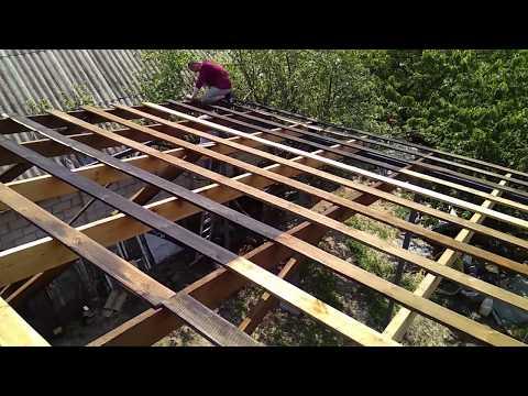 Как сделать обрешетку под шифер односкатной крыши