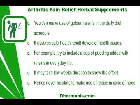 Arthritis Pain Relief Herbal Supplements That Really Work