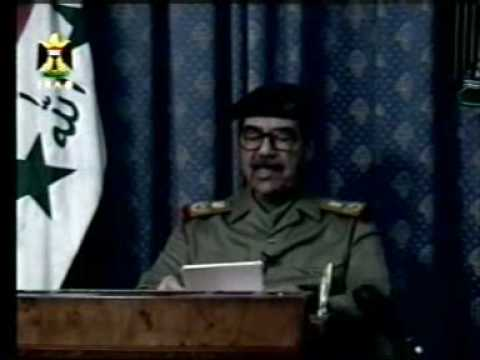 Iraq TV Saddam speech in the eve of the war, March 20th 2003