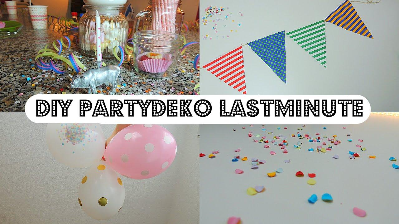 DIY Lastminute Partydeko   YouTube