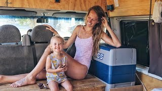 VAN LIFE Vlog + VEGAN Fridge & Pantry Tour