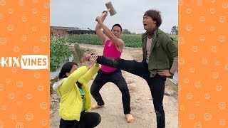 Funny videos 2019 ✦ Funny pranks try not to laugh challenge P86