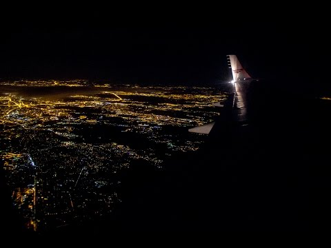 Taxi & night takeoff from Domodedovo | Руление и взлет из Домодедово Tu204 Red Wings RA-64020