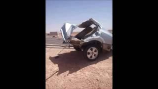 حادت مرور اليوم في طريق مسعد جلفة ادى الى وفاة 3 اشخاص لي في سيارة لاحول و لا قوة الى بي الله