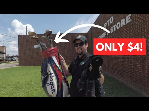 THRIFT STORE GAVE US ALL THEIR GOLF CLUBS FOR $4!! (Epic Hogan Finds!!!)