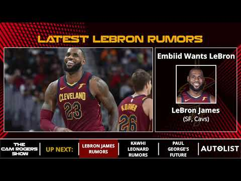 NBA Trade & Free Agency Rumors, LeBron James Rumors, & Paul George's Future On The Cam Rogers Show