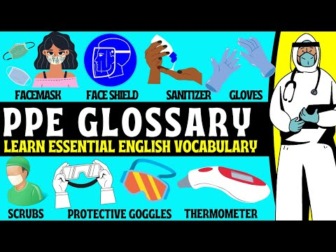 PPE English Vocabulary! (Personal Protective Equipment)