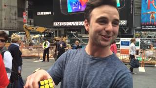 Rubik's Cube Challenge in Times Square