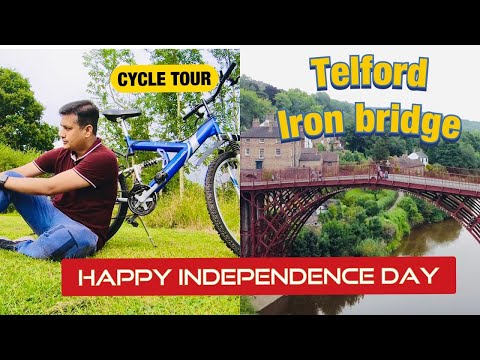 Exploring the famous bridge on my cycle | Telford Iron Bridge | Meraki Minutes